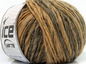 Fiber Content 65% Acrylic, 25% Wool, 10% Viscose, Light Brown, Brand Ice Yarns, Camel, Yarn Thickness 4 Medium  Worsted, Afghan, Aran, fnt2-40094