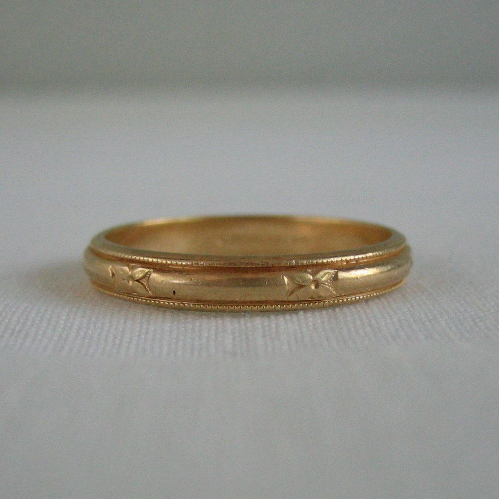 View source image Vintage wedding band gold, Cool