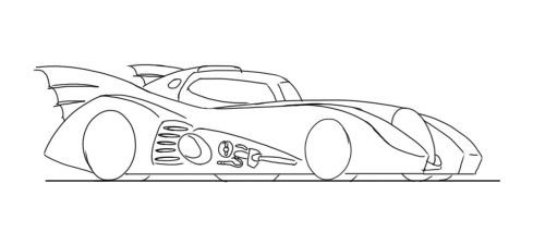 How To Draw A Cartoon Batmobile Google Search With Images