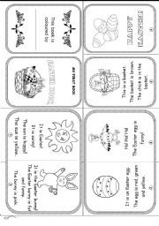 English worksheet: HAPPY EASTER (reading and colouring