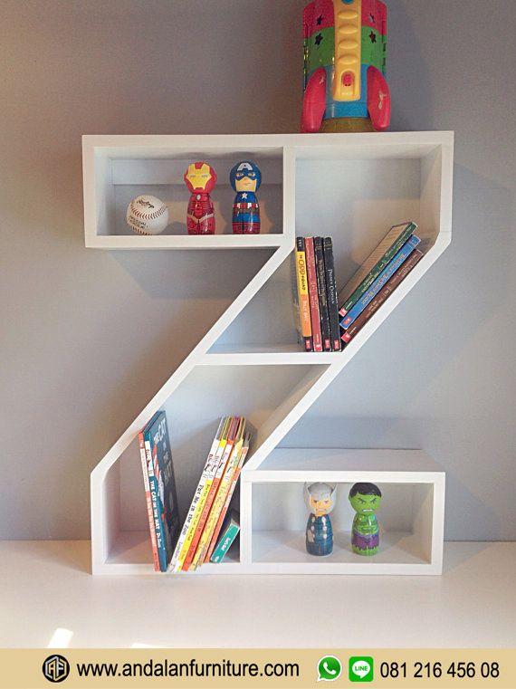 Desain Rak Buku Model Karakter Huruf Unik Atau Orang Biasa Menyebutnya Lemari Adalah Jenis Furniture Trendy Biasanya Banyak Digunakan Untuk