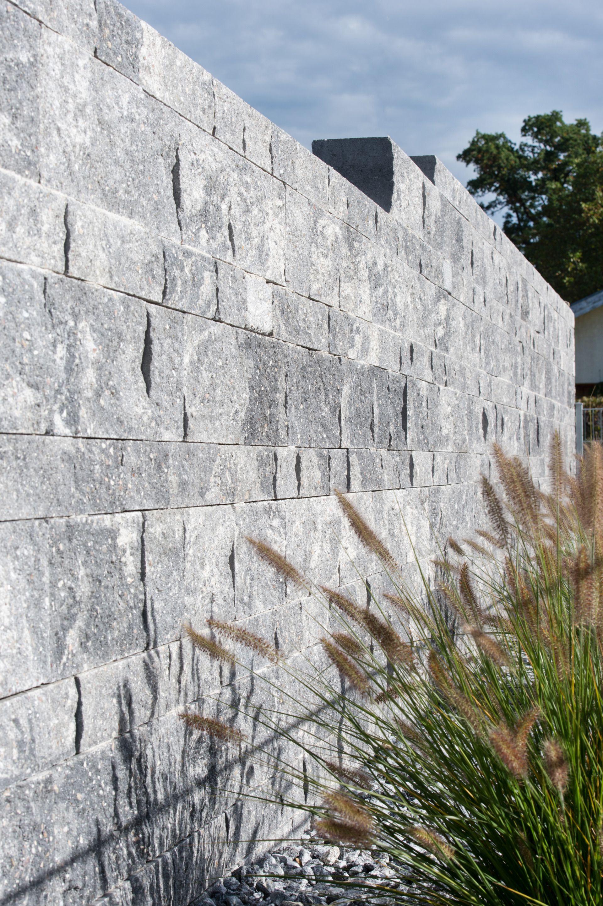 Mauer Grau Schwarz Nuanciert Steinmauer Garten Mauer Gartenmauer
