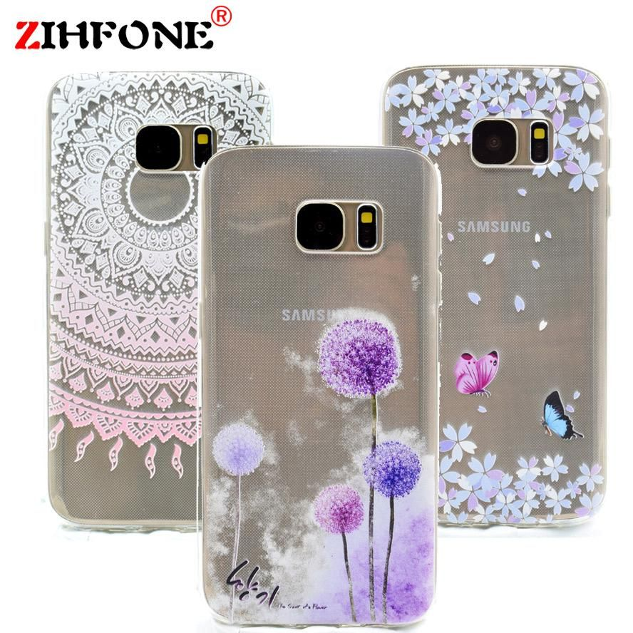 Fashion painted soft tpu silicone for samsung galaxy s7