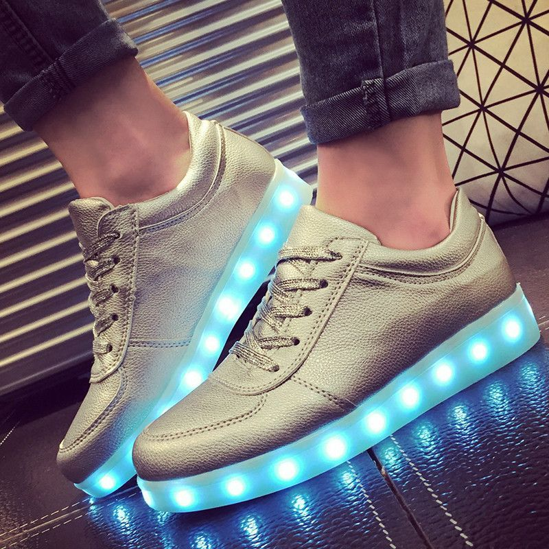 size 30 45 kids shoes with light up shoes usb led slippers glowing