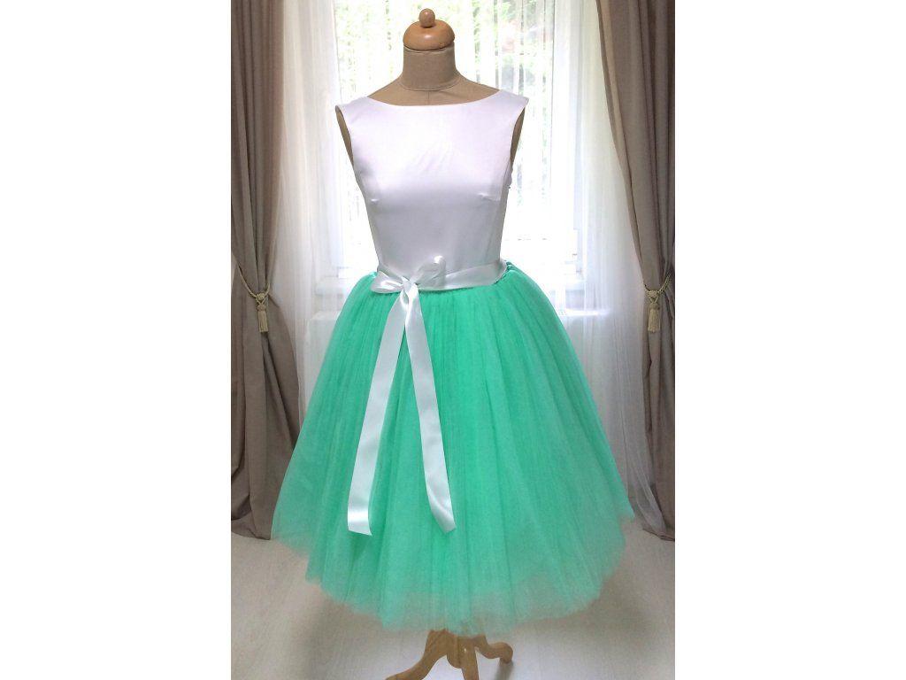 820d69ecc801 Dámská tylová TUTU sukně mint zelená