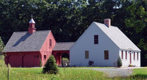 Early Cape One | Colonial Houses in 2019 | Garage house ... on new england saltbox plans, new england chicken coop plans, new england shed, new england victorian house plans, new england church plans, new stone farmhouse porch designs, new old home plans with living areas outside, new old farmhouse, england house floor plans,