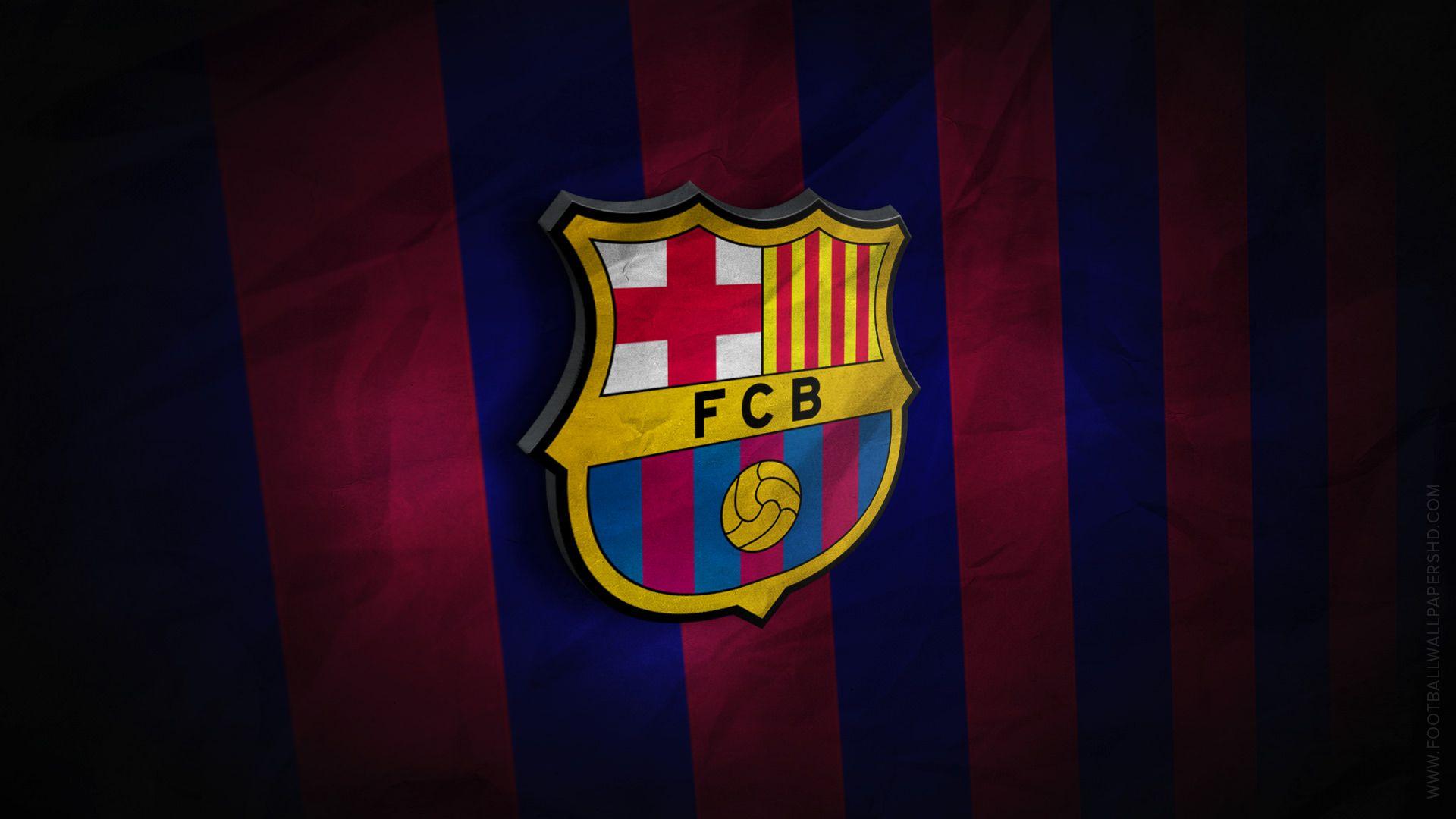fc barcelona 3d logo wallpaper football wallpapers hd