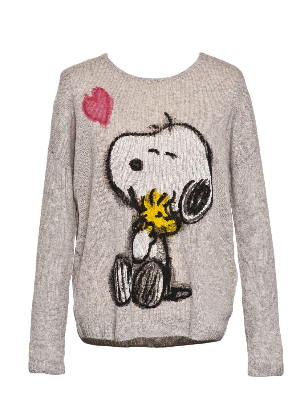 Princess Goes Hollywood Pullover Grau Mit Snoopy Graphic Sweatshirt Sweatshirts Pullover