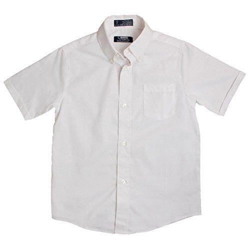 Blue French Toast School Uniform Boys Short Sleeve Oxford Shirt 3T