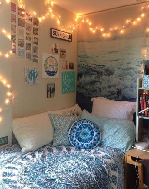 This is one of the cutest dorm room ideas for girls! #bedroomdecorideasdiy