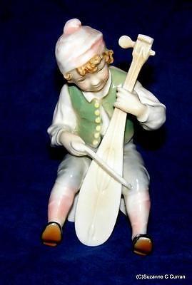 Antique-Karl-Ens-Dresden-Volkstedt-Musician-Man-Playing-Lute-German-Figurine