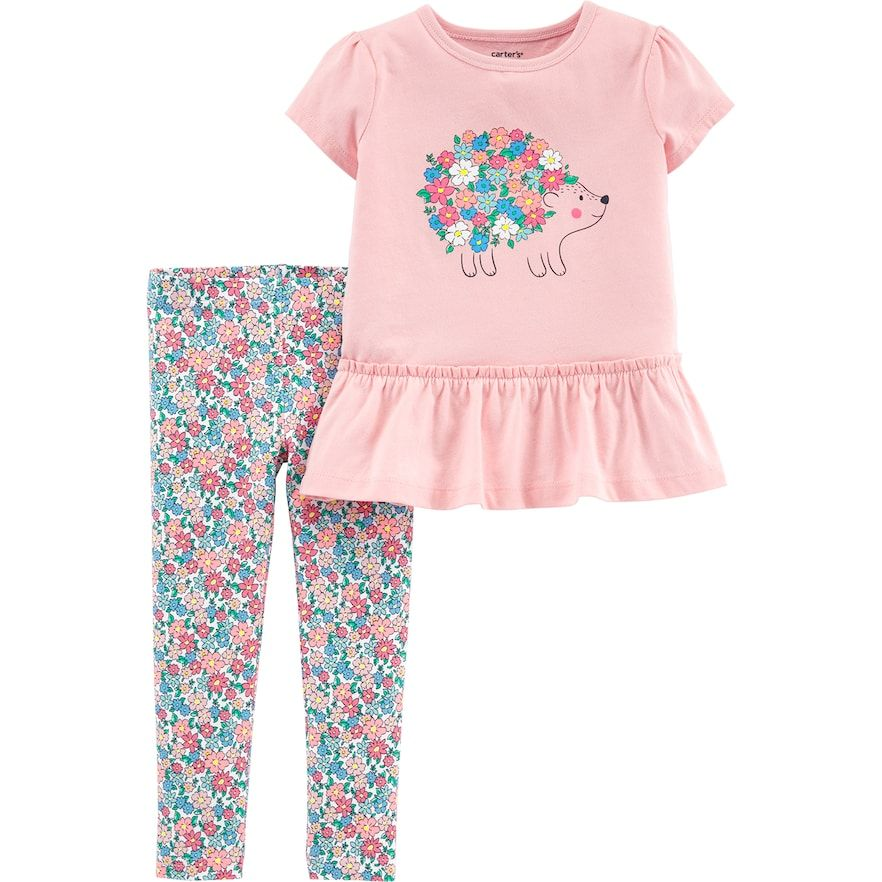 Carters Baby Girls Leggings Light Pink 9 Months