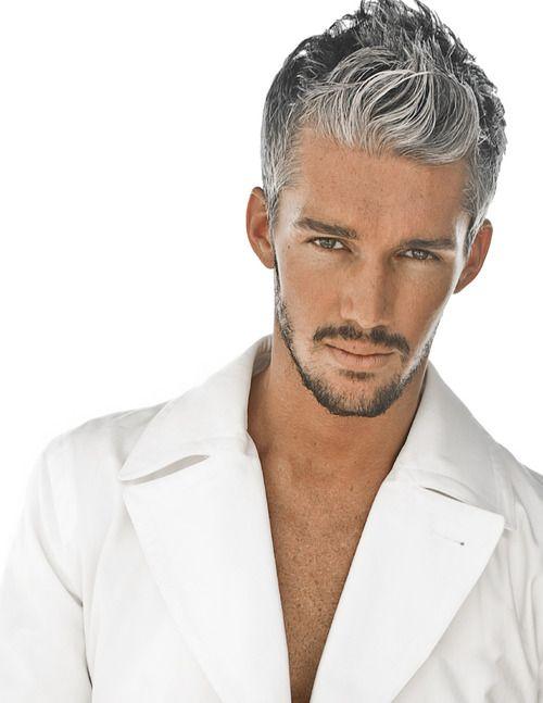 Capelli grigi bianchi uomo