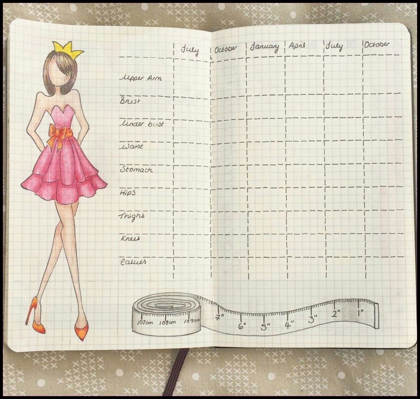 photograph regarding Bullet Journal Weight Loss Tracker Printable titled Pin upon Bullet Magazine