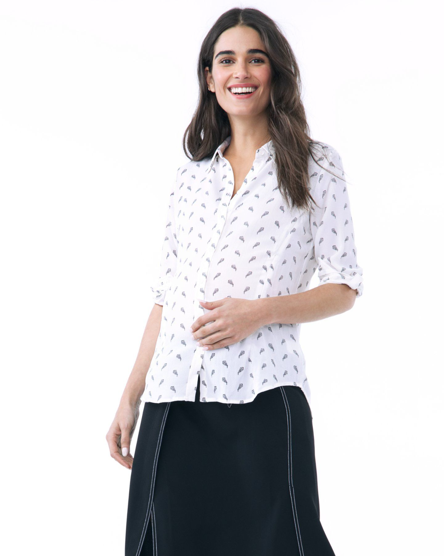 a576055b0b7b9 The riley nursing blouse is a casual yet stylish top for playtime or work.  It's chic yet utilitarian with its functional zippers on both side seams  for ...