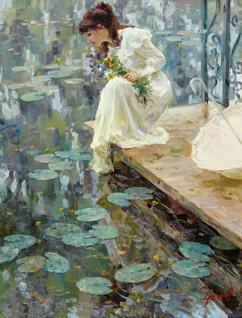 Vladimir Gusev (Version two with water lilies)