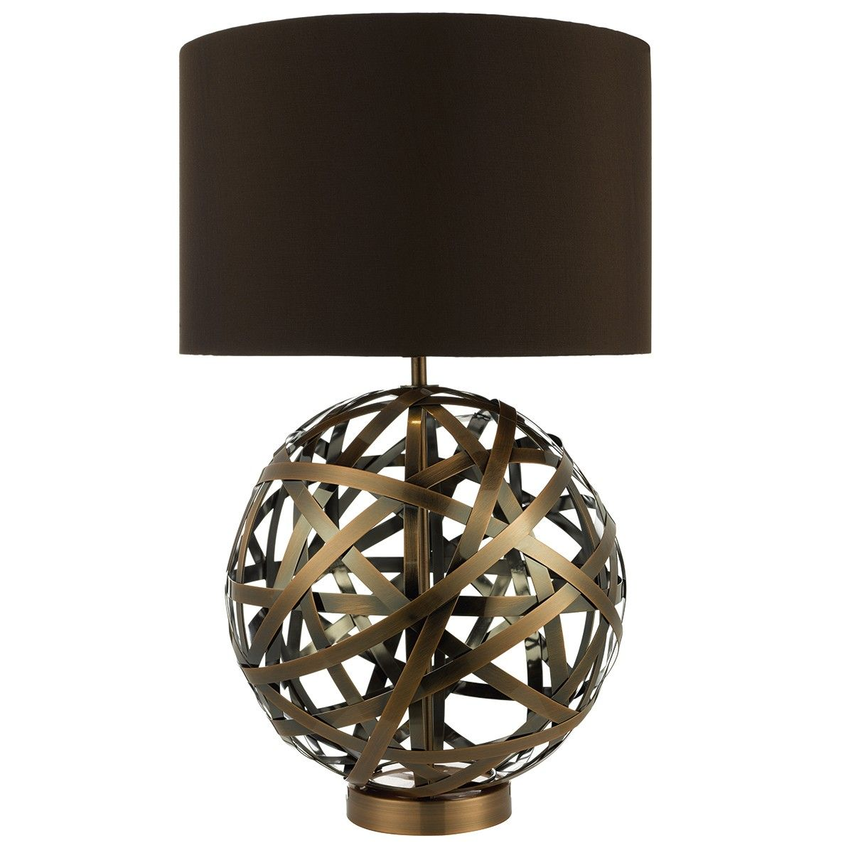 Voyage Tl Woven Antique Copper Ball With Matching Lined Shade Voyage Is A Large Atlas Style Ball Formed From Artful Lamp Unusual Lamps Copper Table Lamp