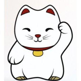 Maneki Neko Sticker Maneki Neko Dans Objet Décoratif