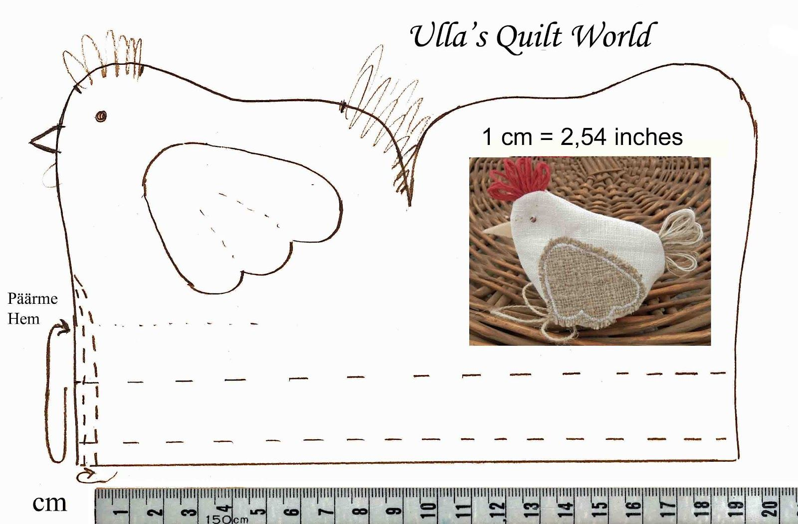 Ullas quilt world quilted easter chicken pouch sewingcraft room ullas quilt world quilted easter chicken pouch tuck a little chocolate egg inside for a fun little gift negle Images