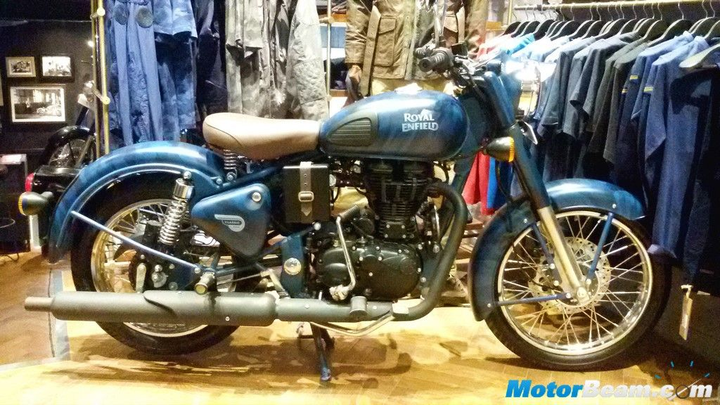 Royal Enfield Classic 500 Camouflage Blue Interested Enfield