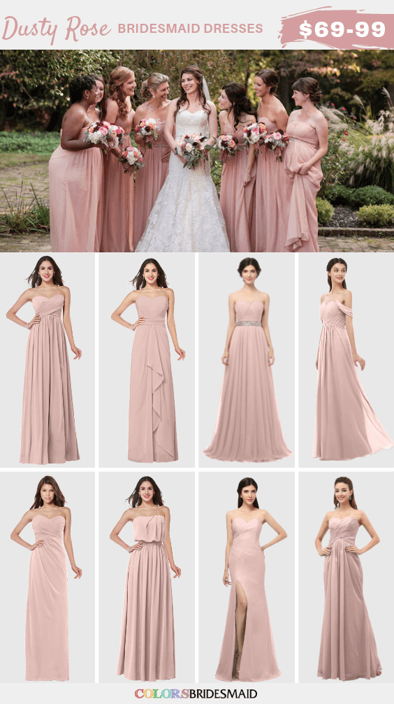 Delicate Dusty Rose Spring Wedding Color Inspirations for 2019 , #Color #Delicate #Dusty #in...#color #delicate Gone are the times when bridesmaids shrink from their dresses. Now, with this kind of wide choice of dress styles available, choosing bridesmaid dresses will feel exciting! But, with so many options to pick from, some brides might actually find themselves feeling overwhelmed. So, when browsing for bridesmaid dresses, utilize this guide to find a very good dress styles, favorite fa