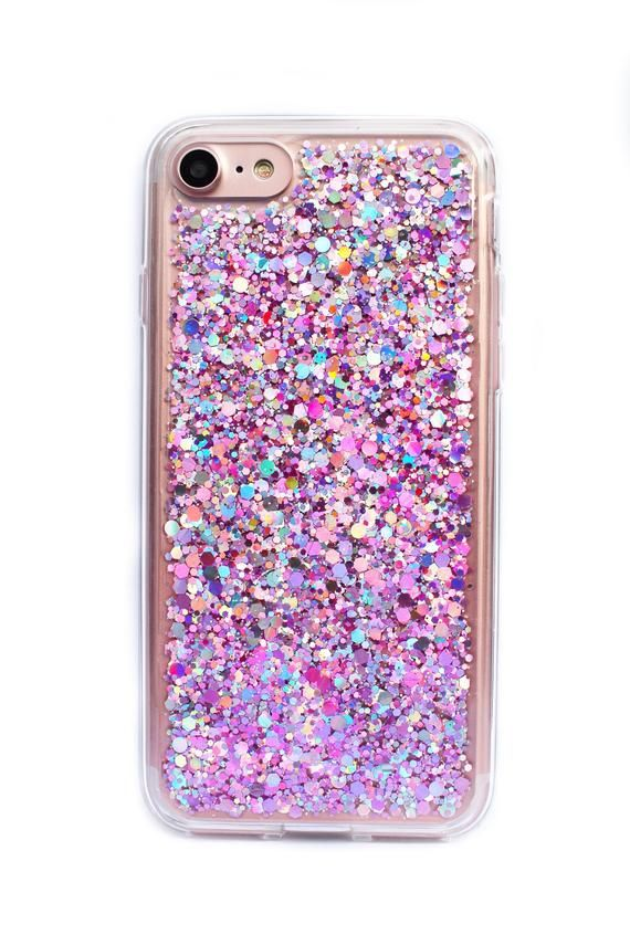 ae1a5f1107 Pink Glitter Case, Girly Phone Case, Glitter iPhone Case, iPhone 8 Glitter  Case, iPhone 7 Pink Glitt