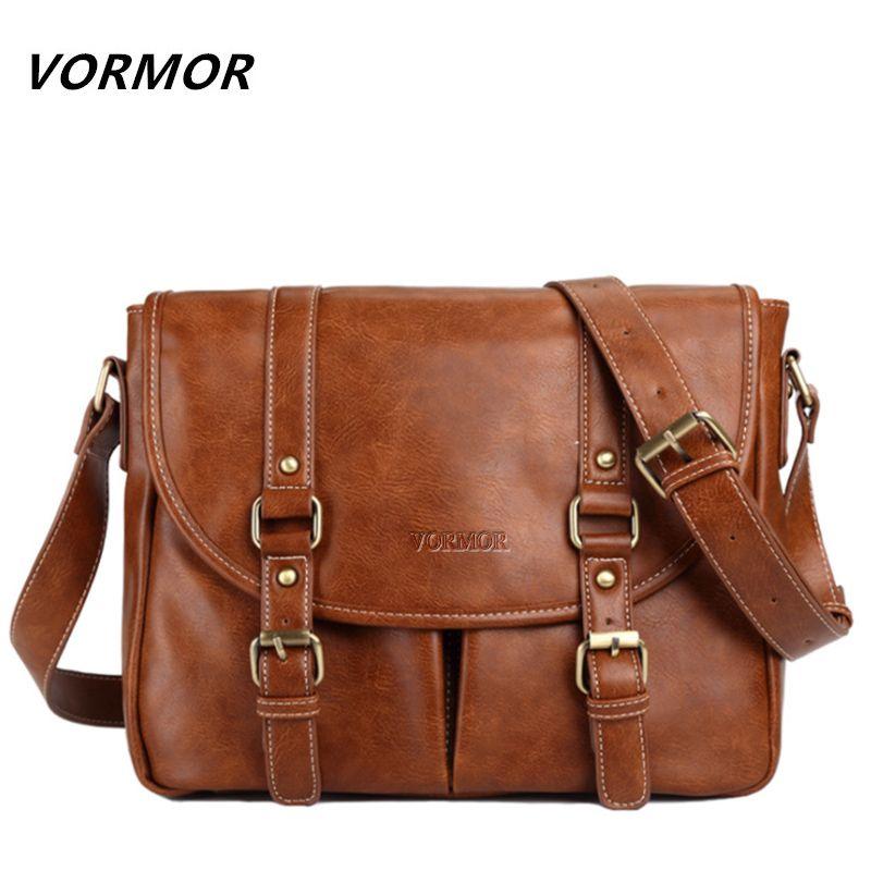 c83ff4732 VORMOR Brand Leather Men Bag Casual Business Leather Mens Messenger Bag  Fashion Men's Crossbody Bag bolsas male #Affiliate