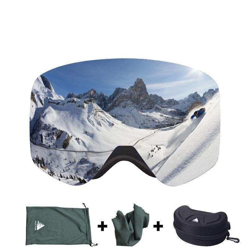 e99bf386849 HB 108 Ski Goggles With Case Double Lens UV400 Anti-Fog