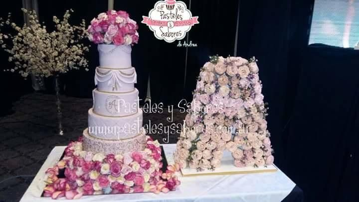 Flowers for 15 yearolde by Andrea Colavita Flower Cakes