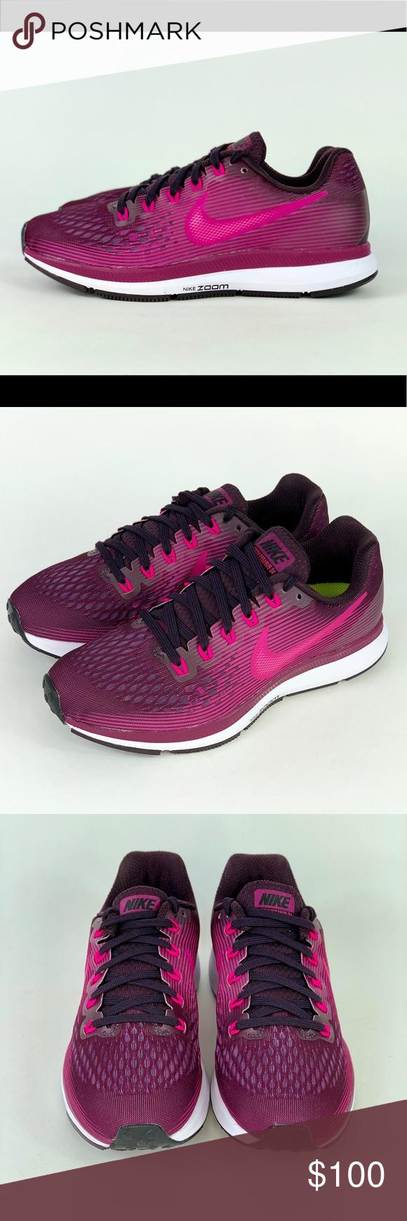 9355f6f1206f7 Nike Air Zoom Pegasus 34 Port Wine Deadly Pink Brand New Nike Air Zoom  Pegasus