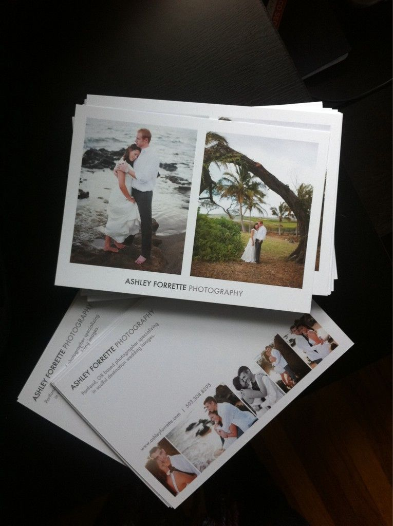 How To Advertise Your Wedding Photography Business: Postcards By Ashley Forrette. Clever Marketing Idea To