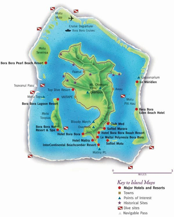 Bora Bora Map Tahiti French Polynesia French Polynesia