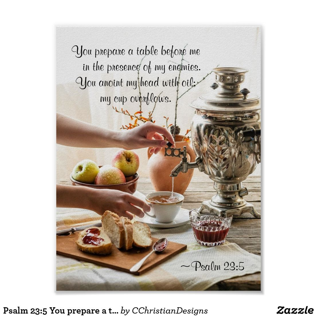 Psalm 23 5 You Prepare A Table Before Me Bible Poster