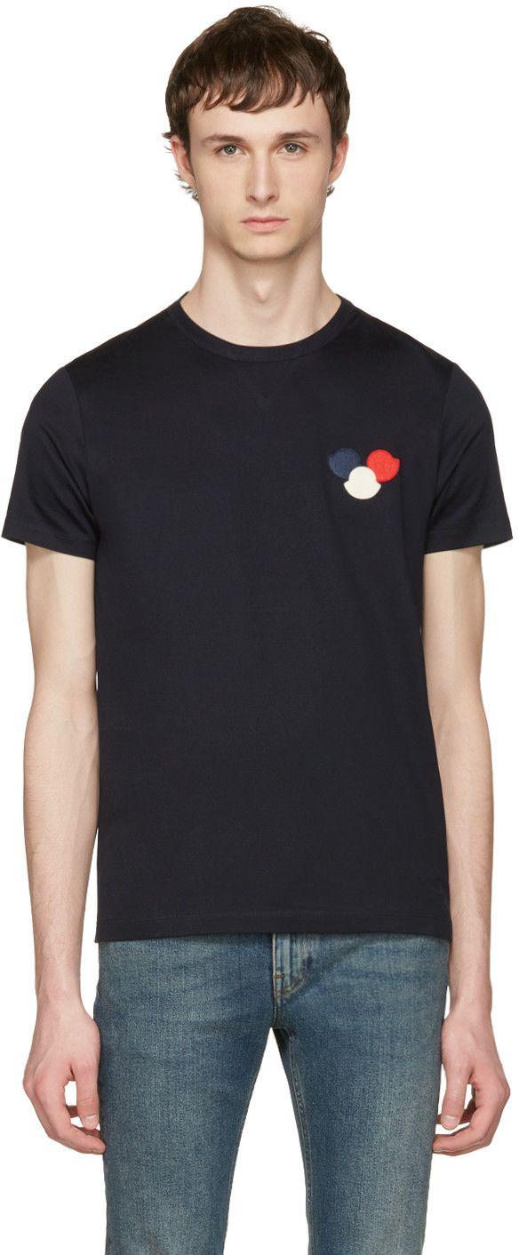 67f5b7f7af9c Moncler - Navy Maglia T-Shirt