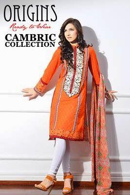 fcedf63babba Origins Cambric Winter Kurti Designs For Girls 2014-2015