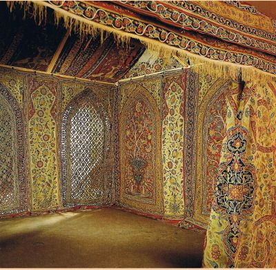 Qajar royal tent made for Muhammad Shah (1834-1848) Persia early & Qajar royal tent made for Muhammad Shah (1834-1848) Persia early ...