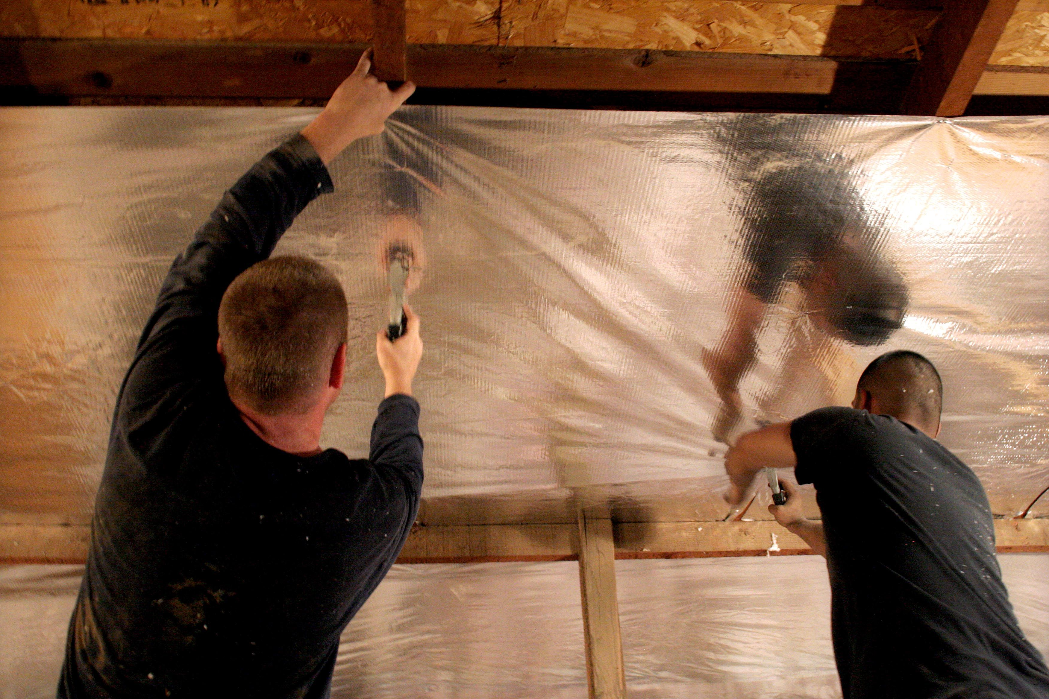 Remove Attic Insulation Rodent Fire Flood Damage Radiant Barrier Blown In Insulation Attic Insulation Removal
