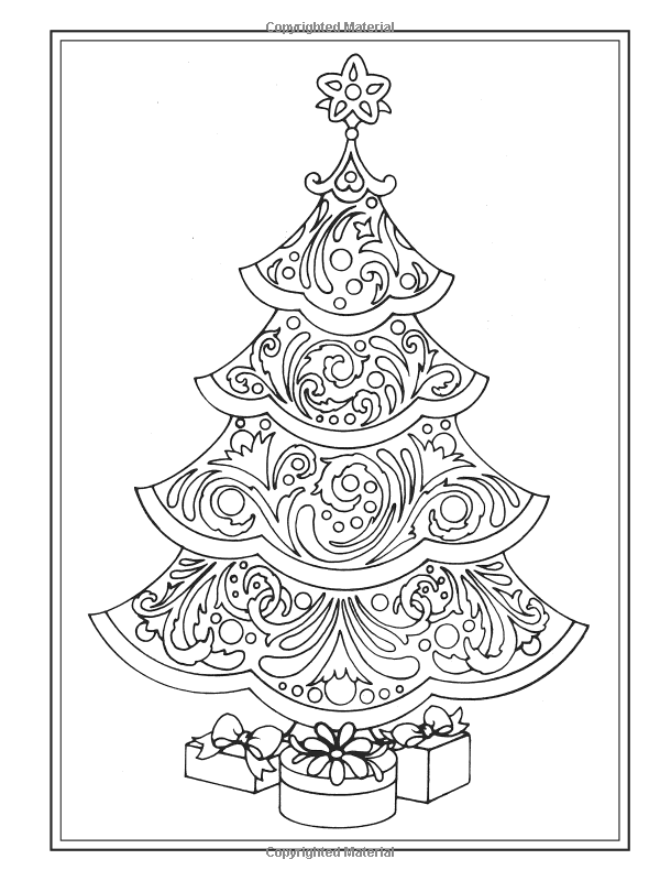 Creative Haven Christmas Trees Coloring Book Creative Haven Coloring Books Ba Christmas Tree Coloring Page Christmas Coloring Books Christmas Coloring Pages