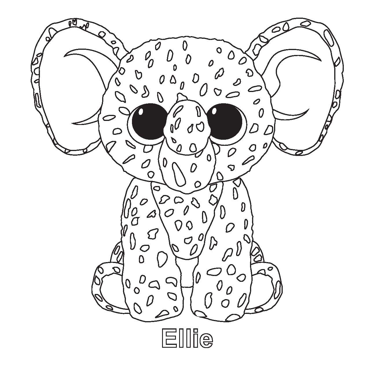 Ty Art Gallery Beanie Boo Birthdays Penguin Coloring Pages Animal Coloring Pages