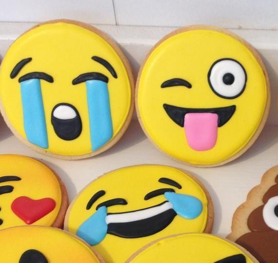 Emoji Cookies - 1 Dozen#cookies #dozen #emoji
