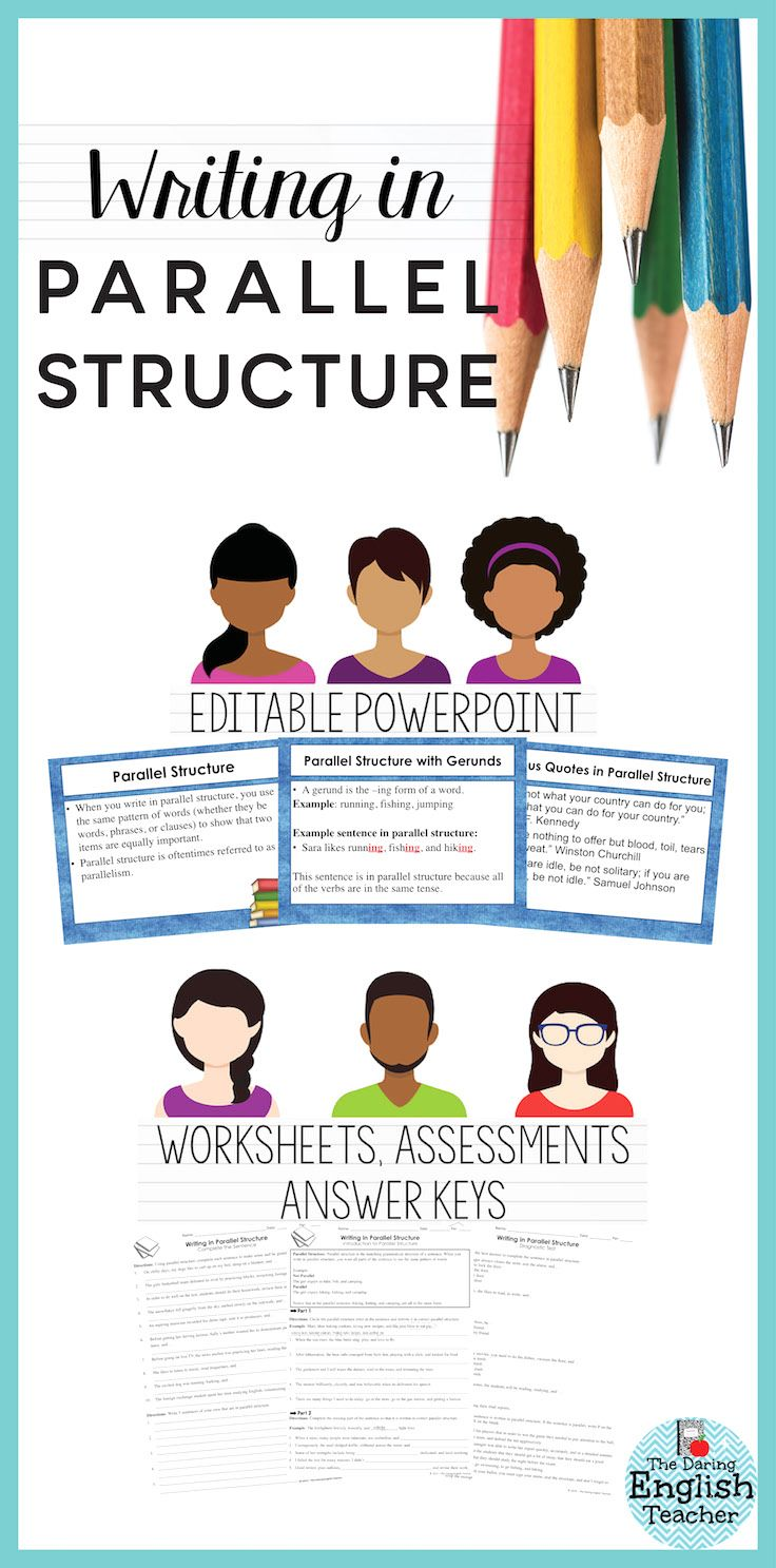 Parallel Structure PowerPoint, Worksheets, Tests