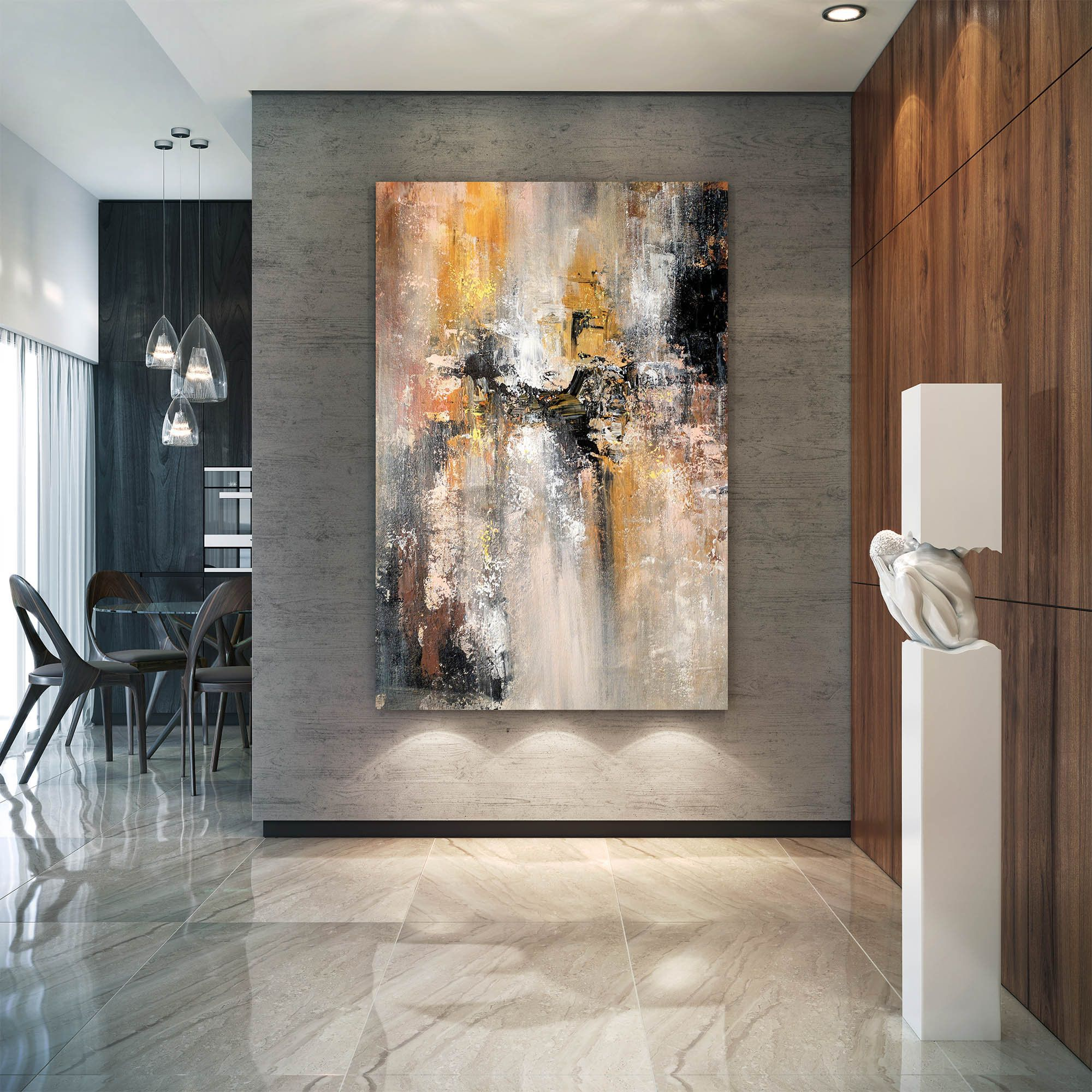 Large Abstract Painting Modern Abstract Painting Original