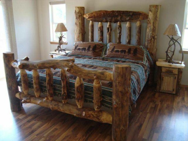 15 chambres de caractère à l\'aide d\'un lit rustique | Chambre ...