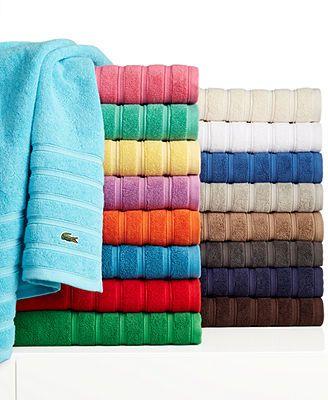 Lacoste Croc Solid Bath Towel Collection Towel Collection Towel Bath Towels