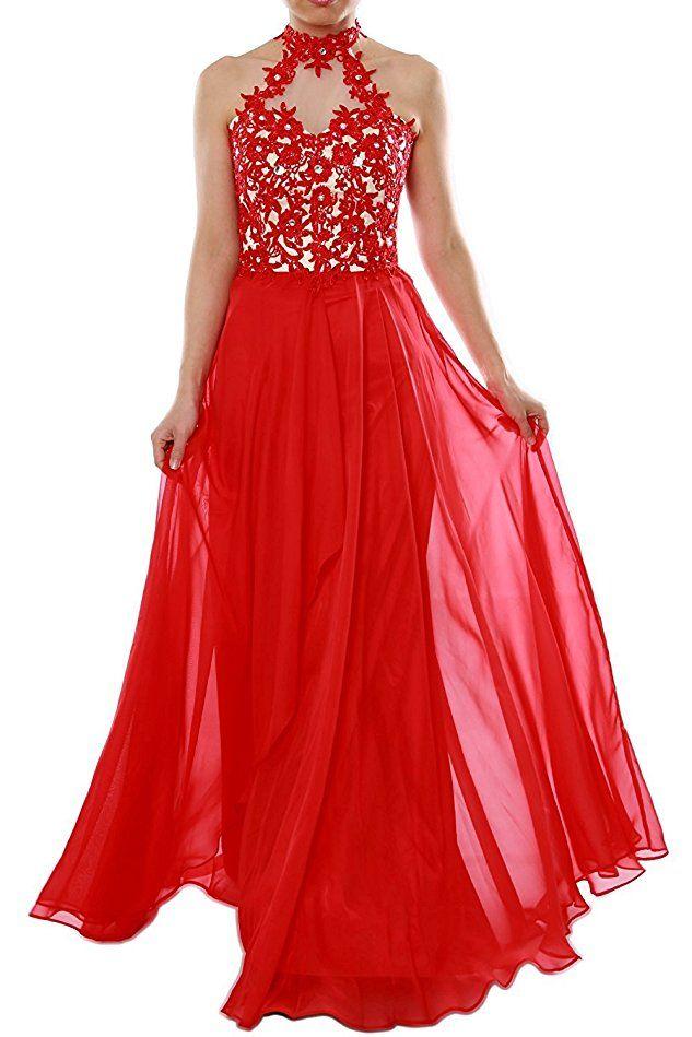 Shoppen Sie Aurora dresses Damen Chiffon Abendkleider Lang Elegant ...