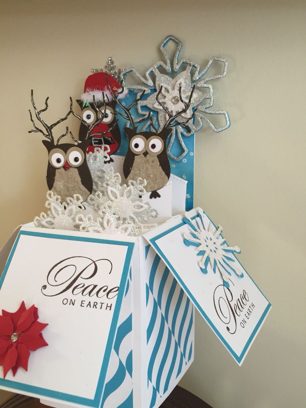 Pop Up Box Owl Punch Boxed christmas cards, Pop up box