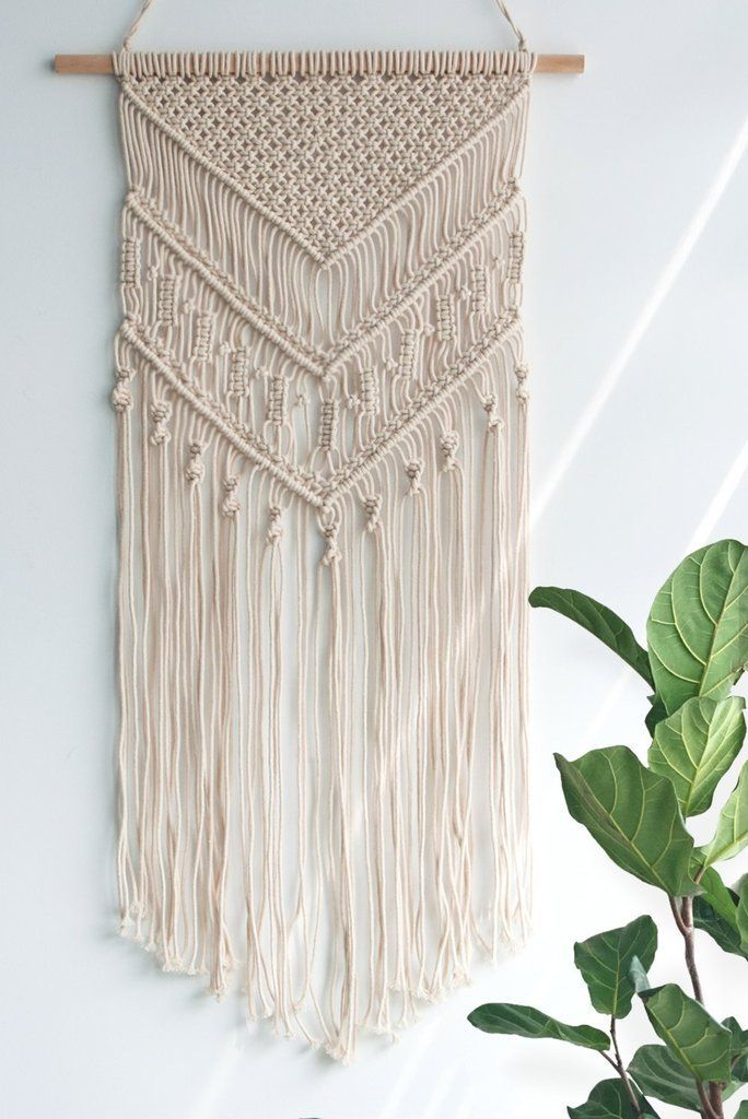 Photo of Macrame Woven Wall Hanging – Boho Chic Bohemian Home Geometric Art Decor