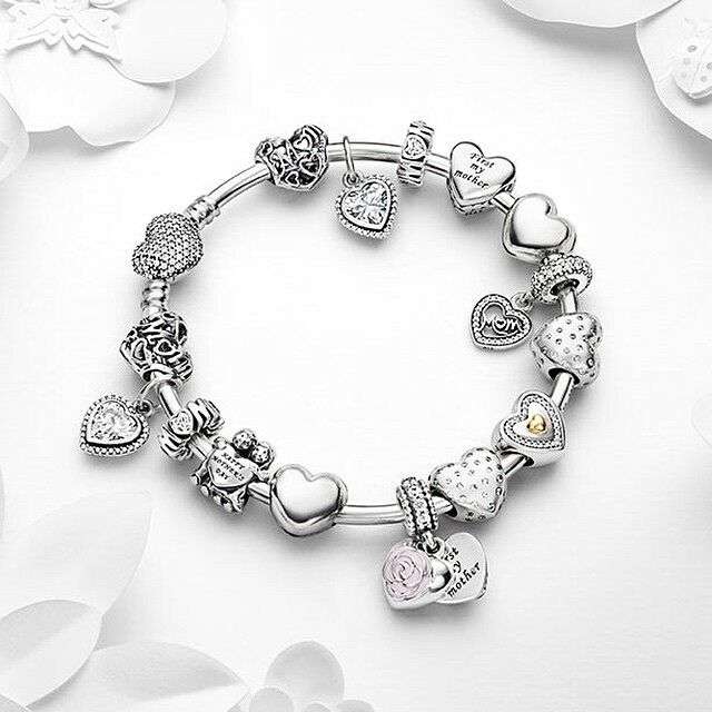 Pandora Jewelry For Sale: 50% OFF!!! $359 Pandora Bangle Charm Bracelet Pink. Hot