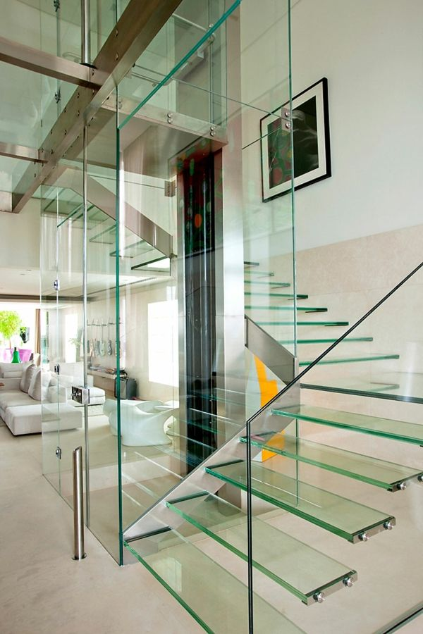unique glass staircase | Stairs and Steps: Going up, Going down ...
