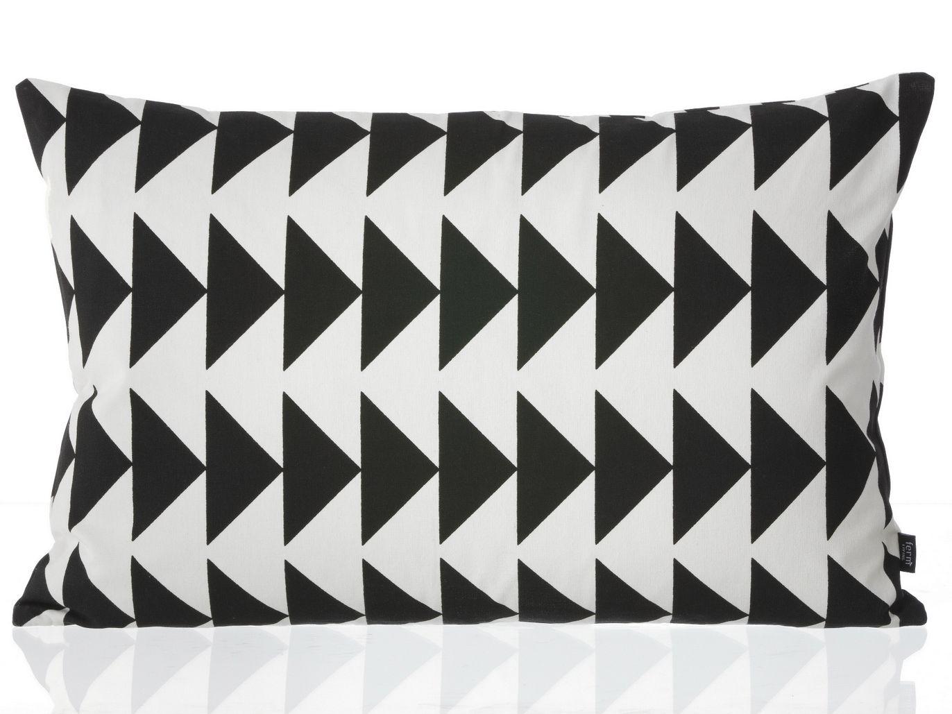 Cuscini Bianchi E Neri cuscino rettangolare in piuma d'oca collezione black arrow